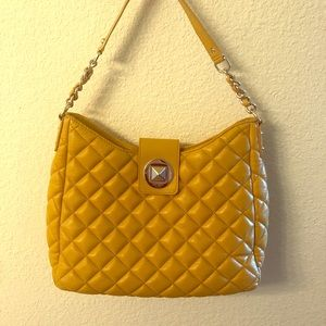 Kate Spade Gold Coast quilted mustard yellow bag
